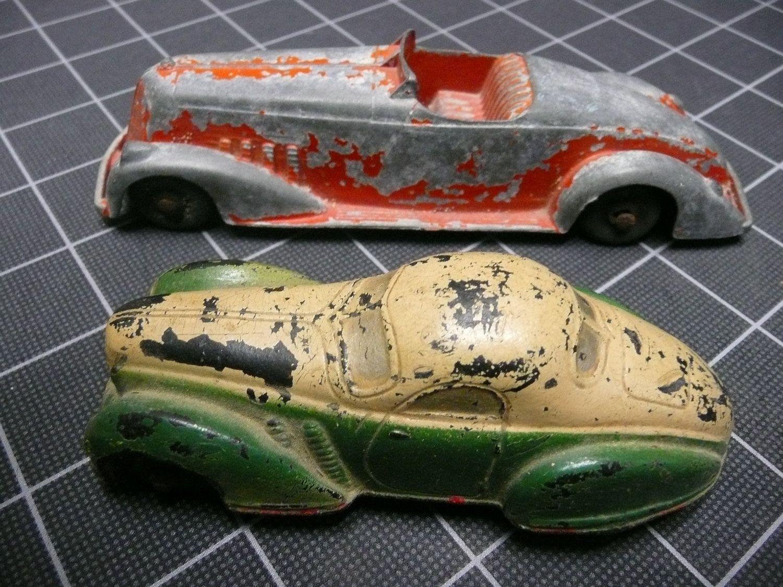 Tootsie Toy Sun Rubber Art Deco Cars Automobiles