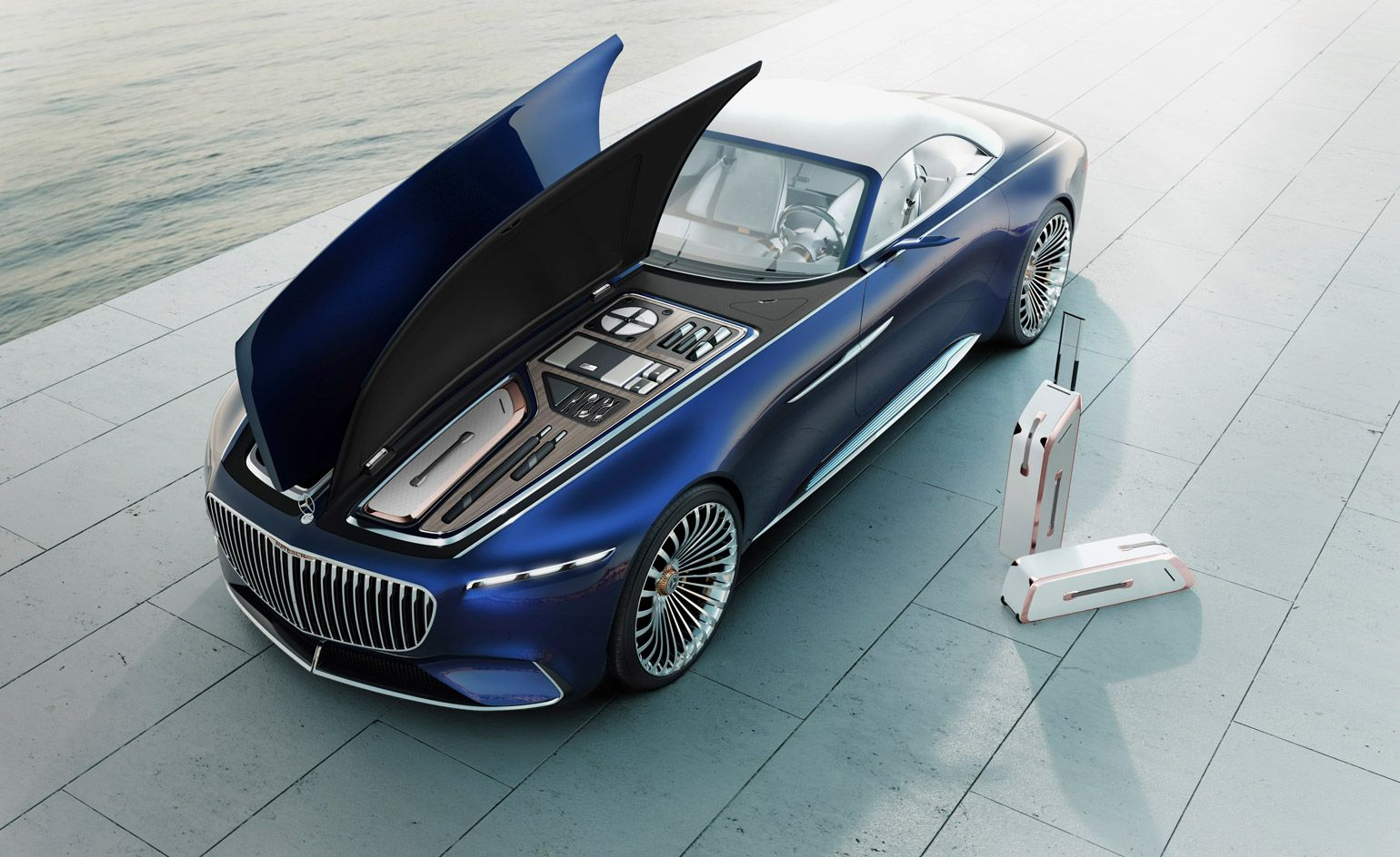 The New Reality Mercedes Maybach Unveils The Super Luxury Electric Car Of Tomorrow S World Mercedes Maybach Mercedes Benz Maybach Maybach