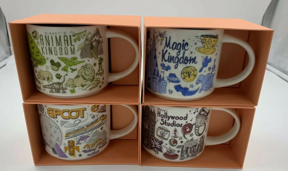 Disney Parks Starbucks Been There Series 2019 Set Of 4 Mugs