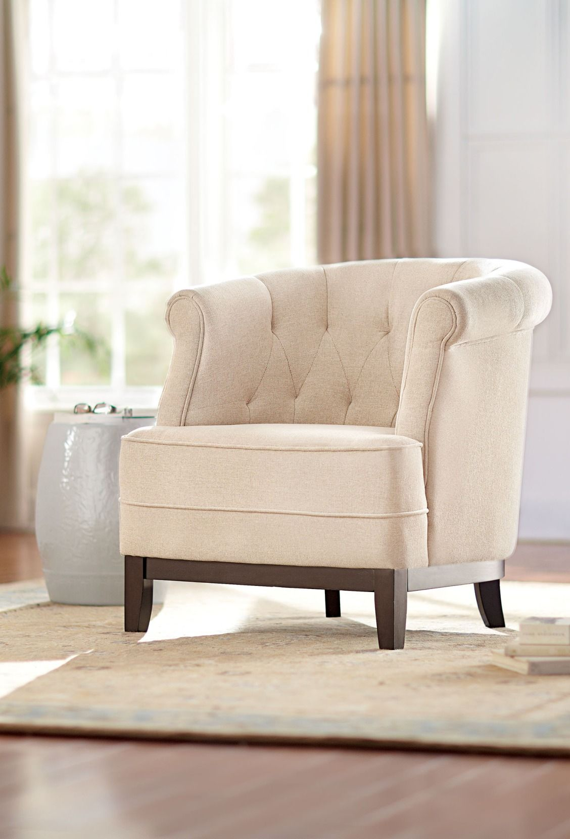 Emma Tufted Arm Chair Total 2052 Living Room Furniture