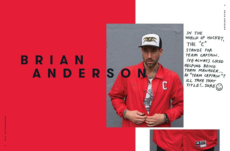 fanzine of nike with brian anderson