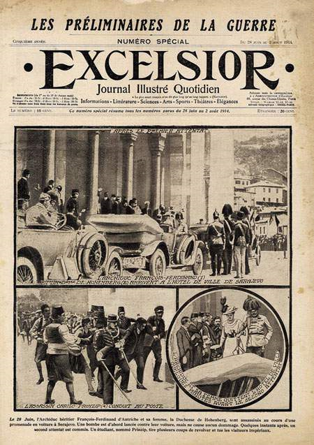 The Front Page Of The Excelsior Newspaper Announcing The