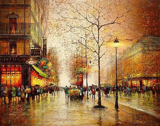 Guy Dessapt - Paris at night | Artwork I love | Pinterest | Paris ...