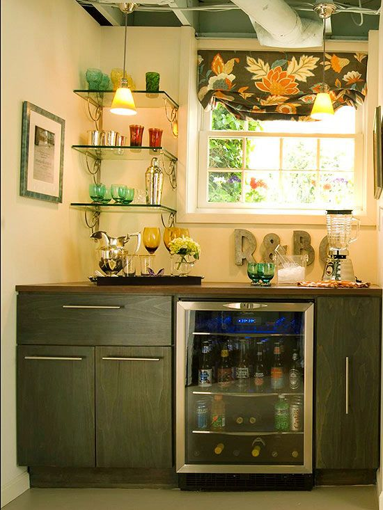 10 Ways to Upgrade Your Garage | Small bar areas, Small bars and Bar ...