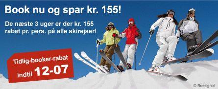 Skiferie - skirejser - last minute - skiweekend - liftkort