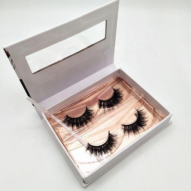 1a10b47a1d3 2 Pairs Custom Eyelash Packaging Box Natural Strip Mink Lashes 3D Mink  Eyelash for Wholesale, WhatsApp:+86 18561673497