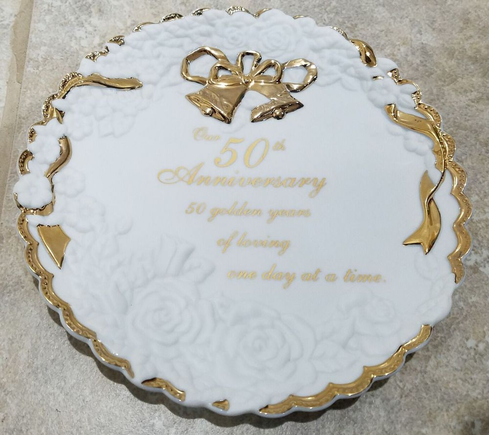 50th Anniversary Plate Made By Enesco Ebay Group Dominican Republic Uruguay 50th Anniversary