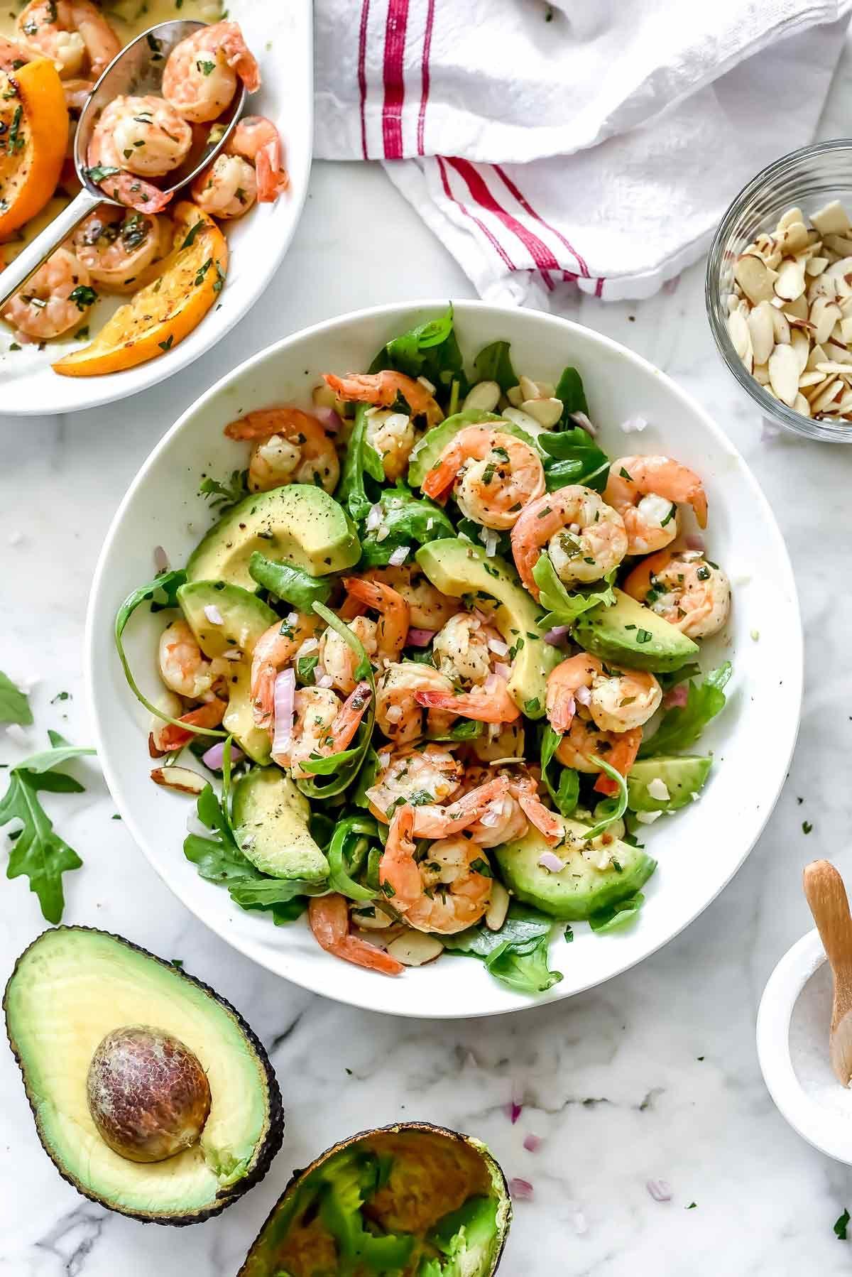 Citrus Shrimp And Avocado Salad Foodiecrush Com Avocado