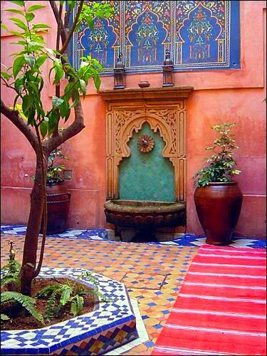 Moroccan Courtyards Moroccon Style Moroc