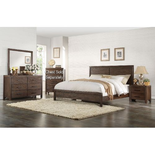 Rustic Contemporary Chocolate Brown 6 Piece King Bedroom Set Classy Rustic Bedroom Sets Decorating Design