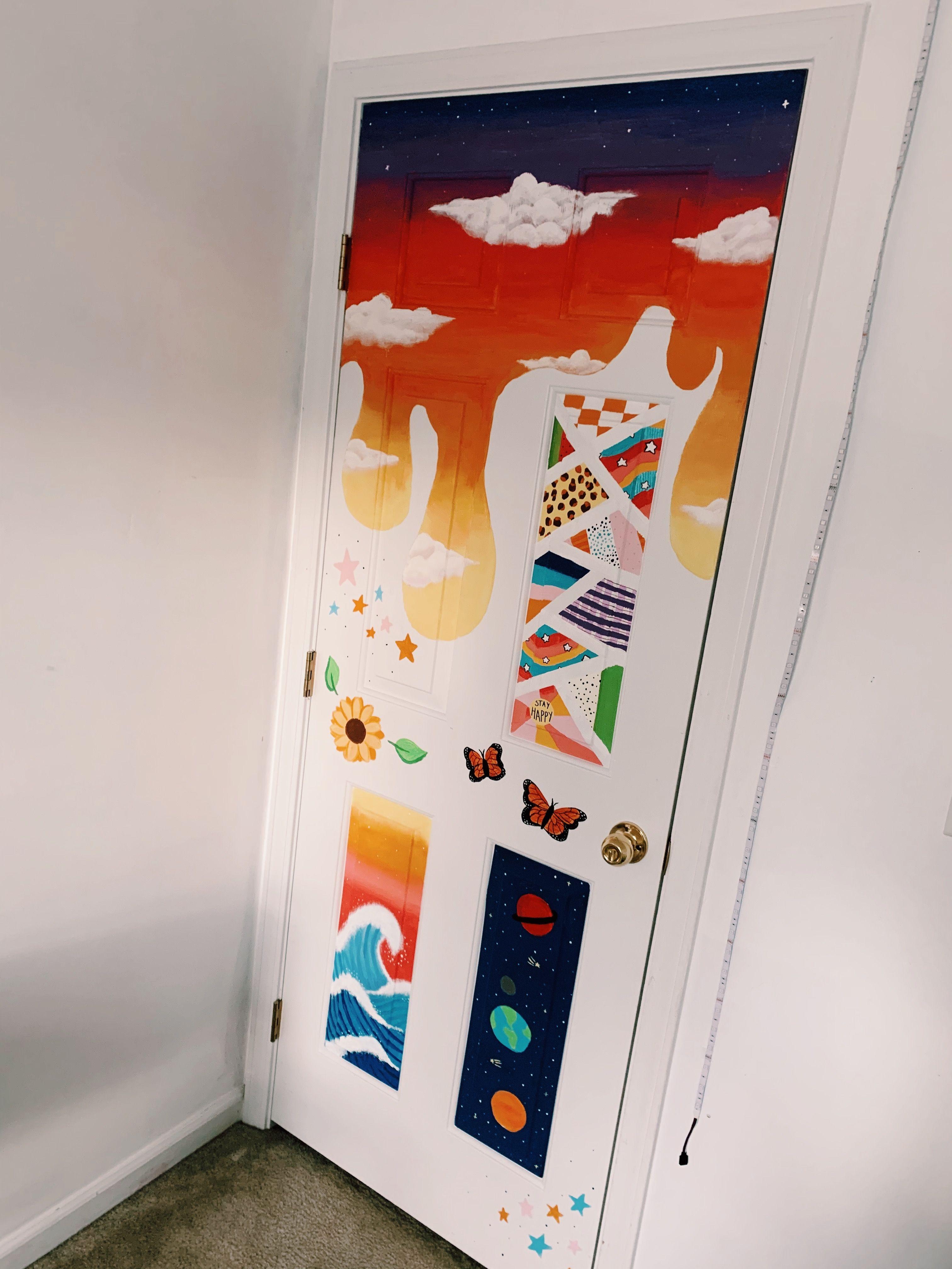 Door Painting Art Room Doors Closet Doors Painted Painted Bedroom Doors