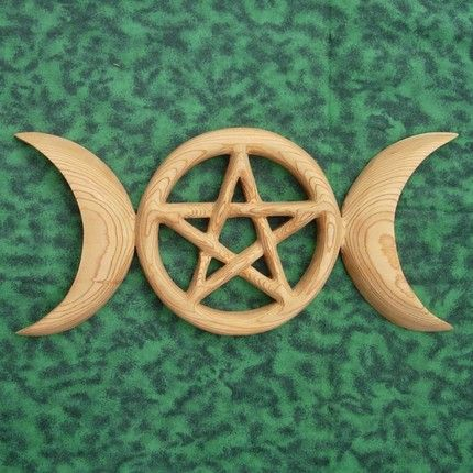 Triple Moon Pentacle Celtic Goddess Symbol Holistic Relationship