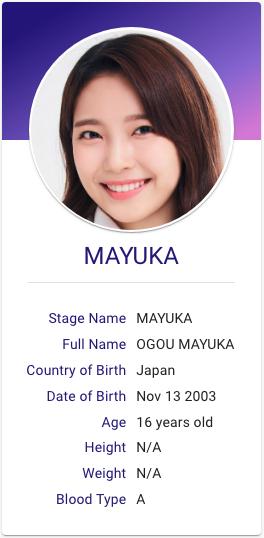Ogou Mayuka Niziu Hallyu Idol Jpop Profiles Japanese Girl Band Sony Music Entertainment Kpop Profiles