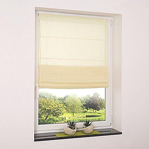Tenda avvolgibile per finestra beige, tenda filtrante a p ...