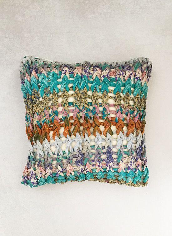 Aqua Chuky Knit Cushion