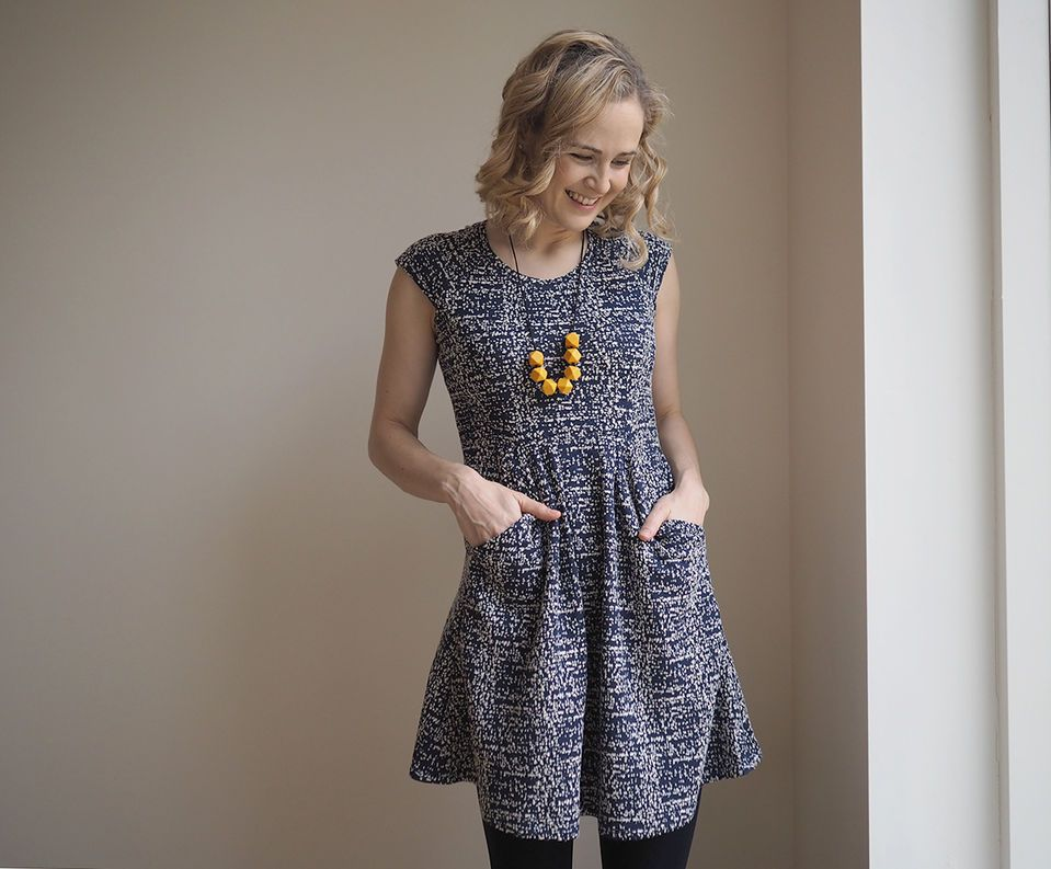 Lauren\'s Zadie dress - sewing pattern by Tilly and the Buttons ...