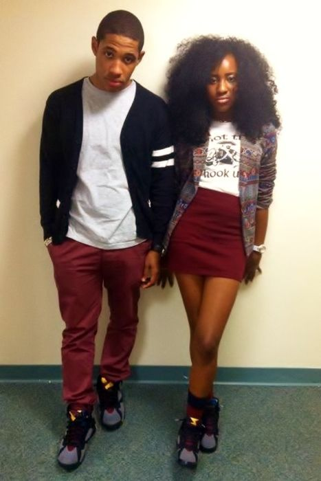 f6cb39ef60 His and Hers Air Jordan Bordeaux 7 Josh & Sunshine | Amor | Outfits ...