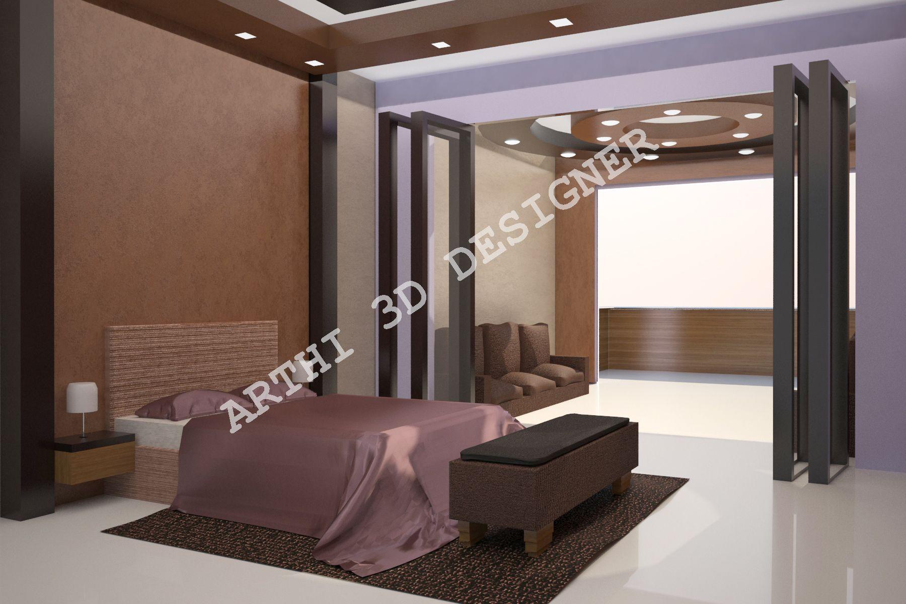 Realistic 3d Architectural Modular Bed Room Design Interior