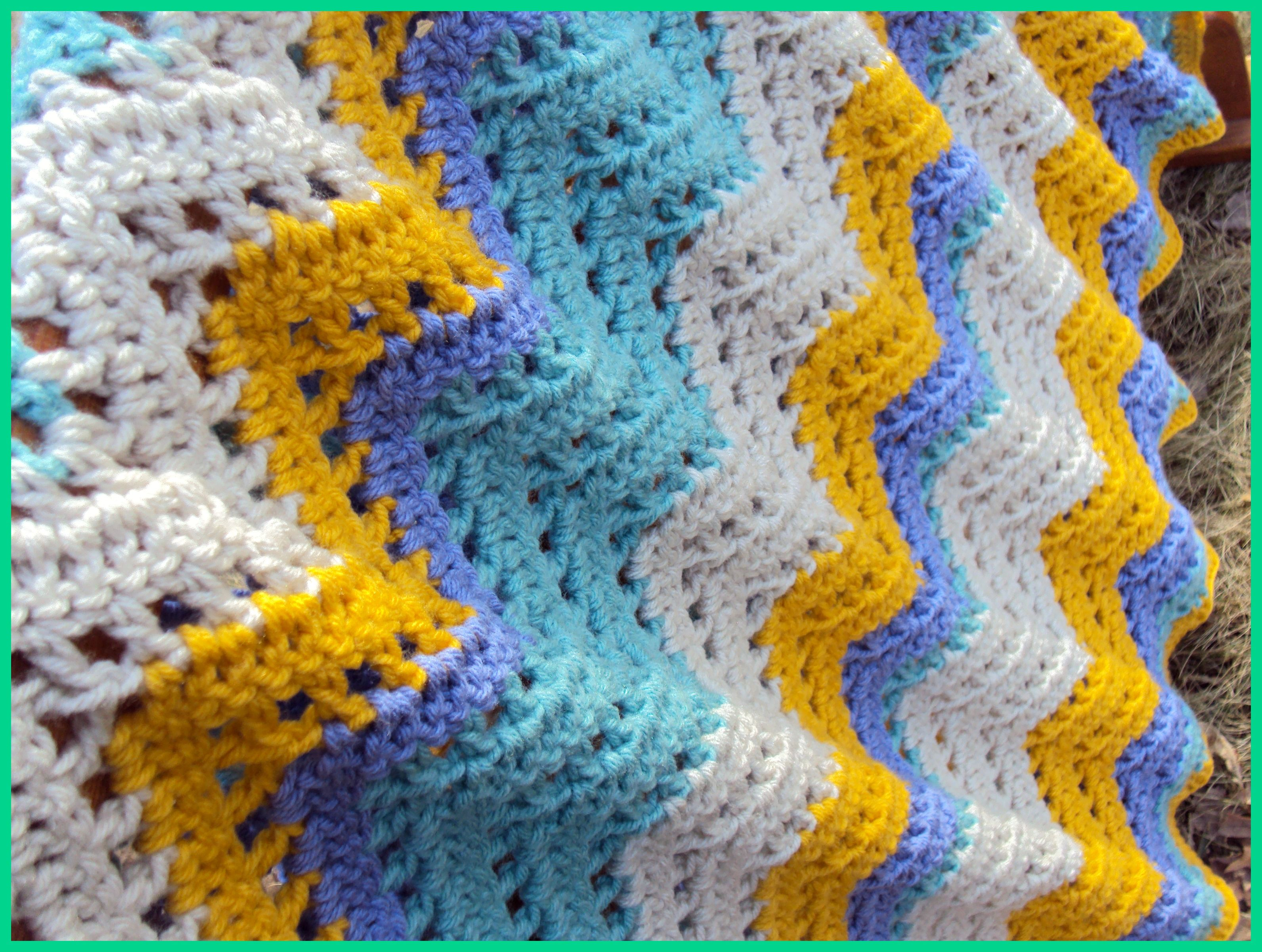 Chevron Lace Ripple Afghan My Crocheted Creations Pinterest