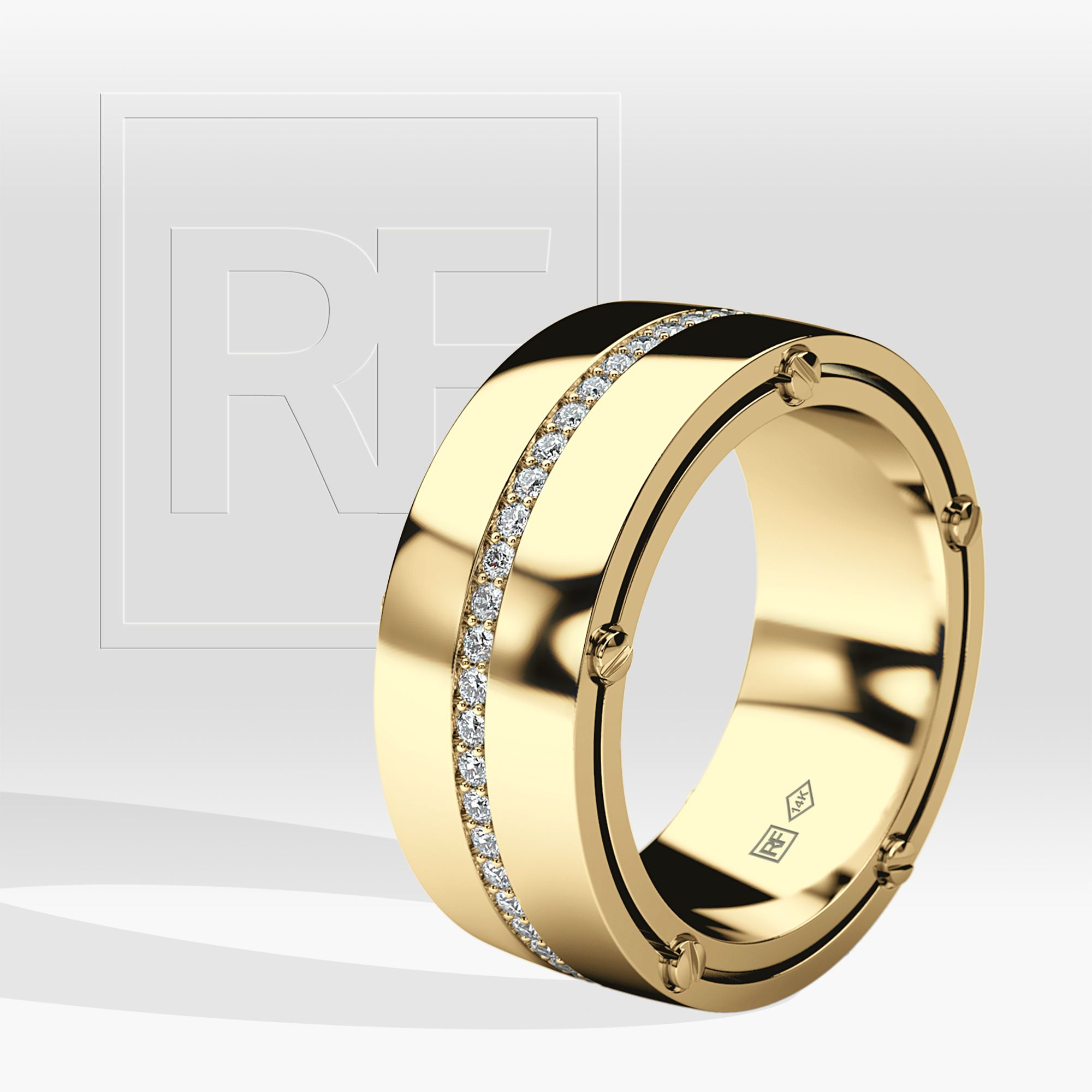 Franklin Comfort Fit Mens Gold Wedding Band With 0 50ct Diamonds Wide Version Mens Gold Wedding Band Mens Diamond Wedding Bands Diamond Wedding Bands
