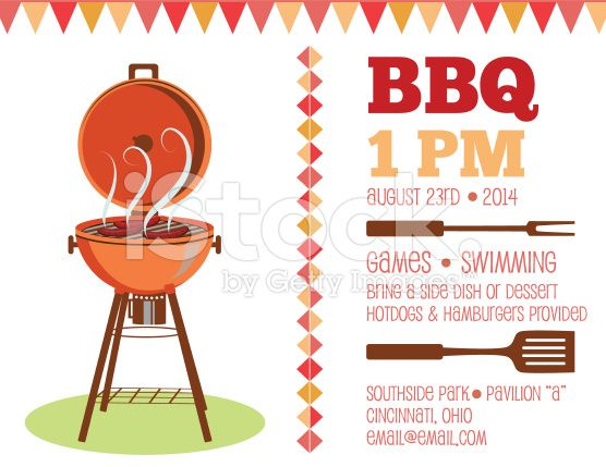 Retro BBQ Invitation Template On the left is an old fashioned