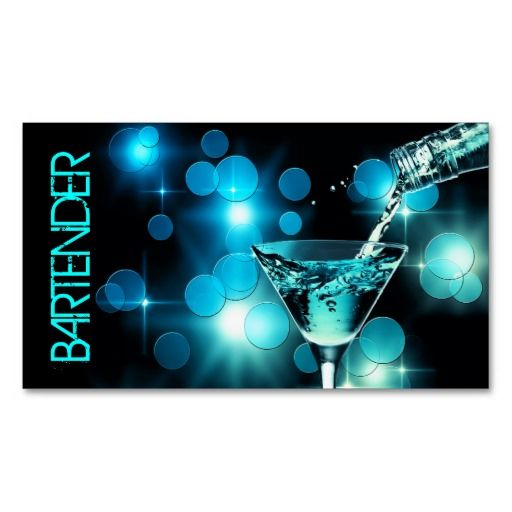 Pin On Bartender Business Cards