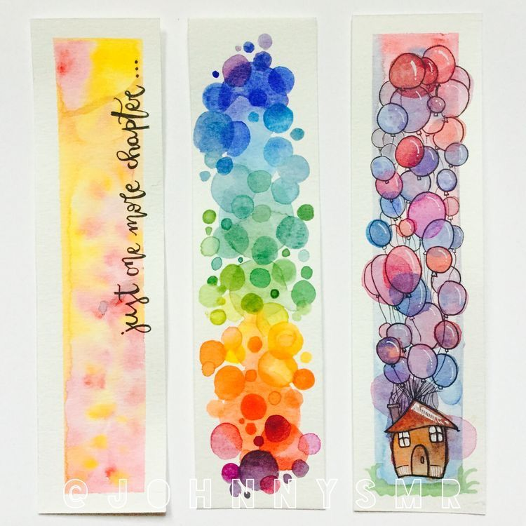 Pin By Hadia On Artsy Stuff Watercolor Bookmarks Creative