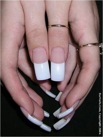 Loving The Thick White Tipped French French Tip Acrylic Nails Long French Nails French Tip Nails