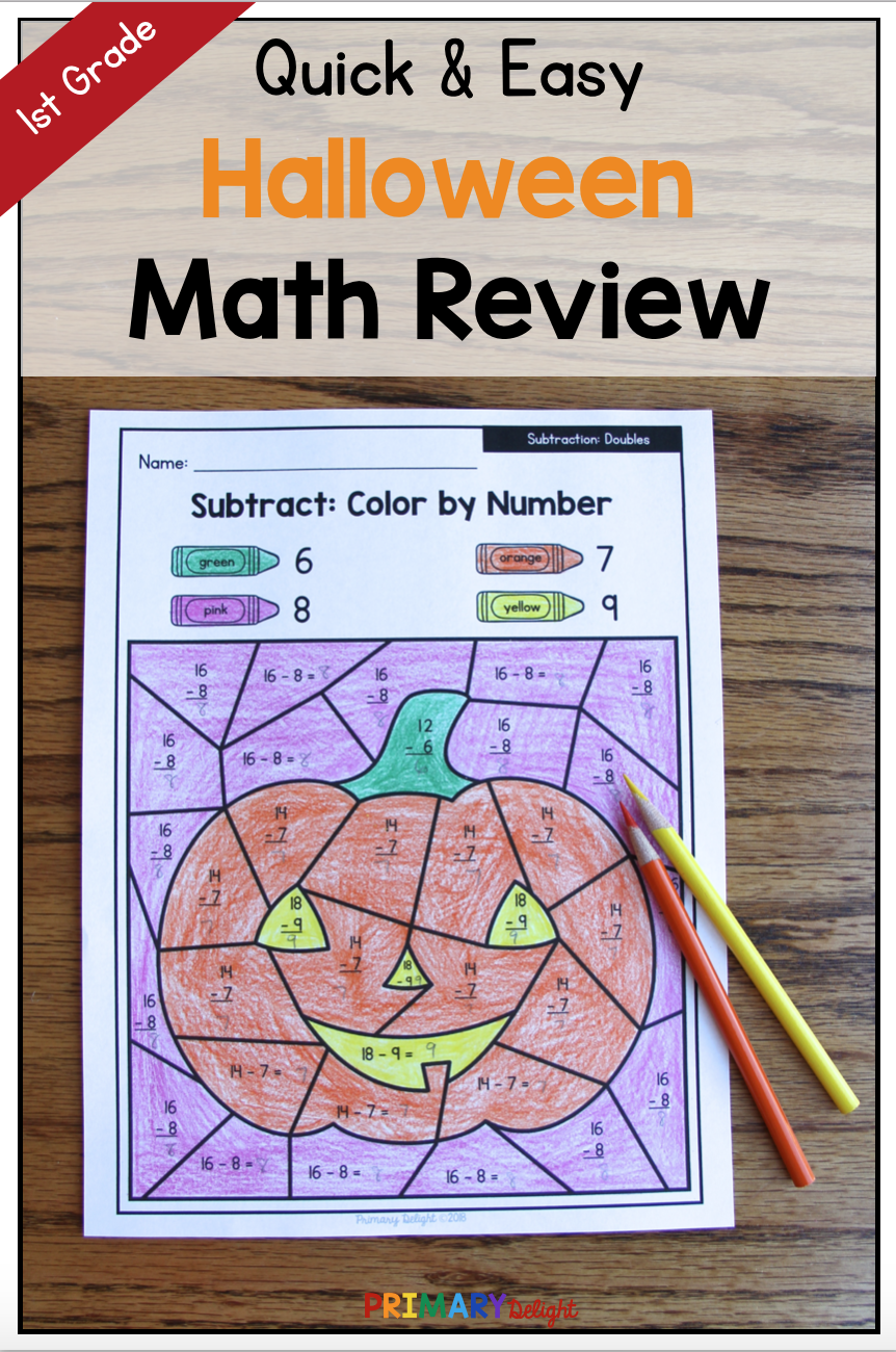 Halloween Color By Number Math Worksheets Are A Fun Way For Kids To Practice Number Sense And Addition Halloween Math Activities Halloween Math Math Activities [ 1300 x 862 Pixel ]