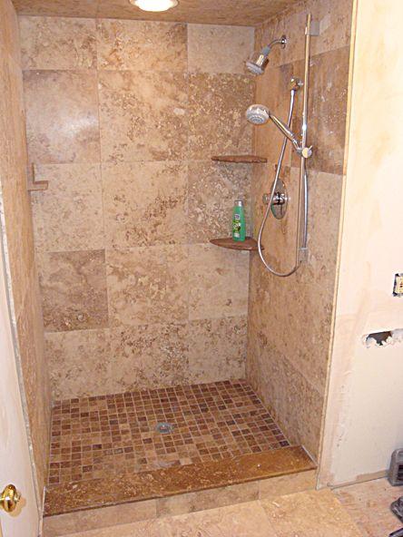 Shower Re Tile Ideas Architectural Elements Exteriors Pinterest Tiled Showers Small