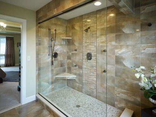 Large bali cloud pebble tile shower floor   Ideas for the House ...