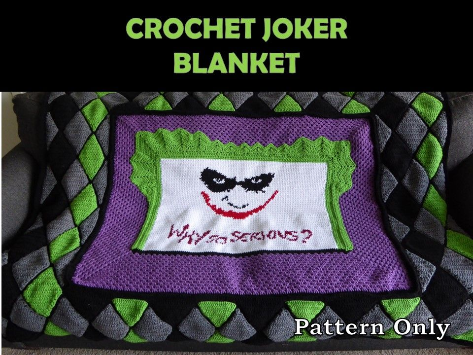 The Joker Crochet Blanket Pattern. Why so serious?! #joker ...