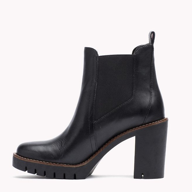 Tommy Hilfiger HEELED BOOT - High heeled ankle boots - black AMQrHVO