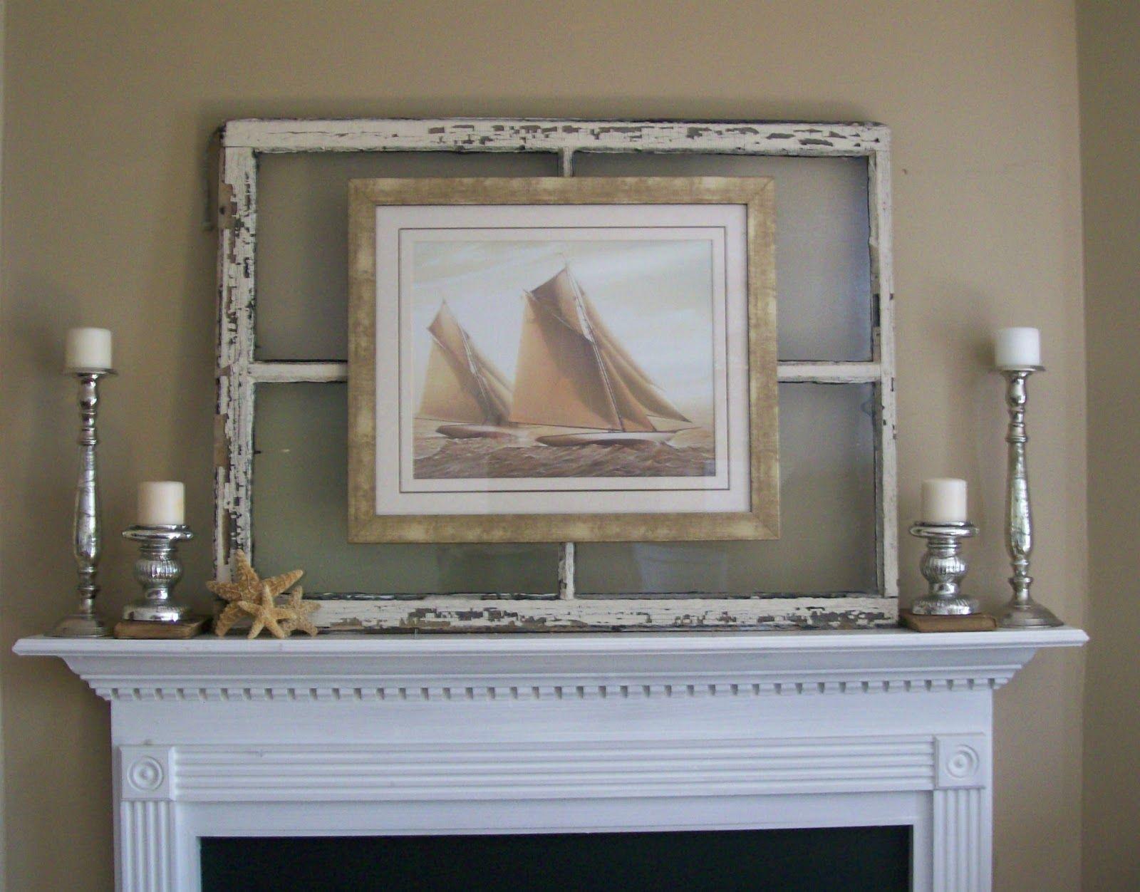 walnut and vine hang a photo or art print on an old mirror via window frame - Window Frame Wall Art