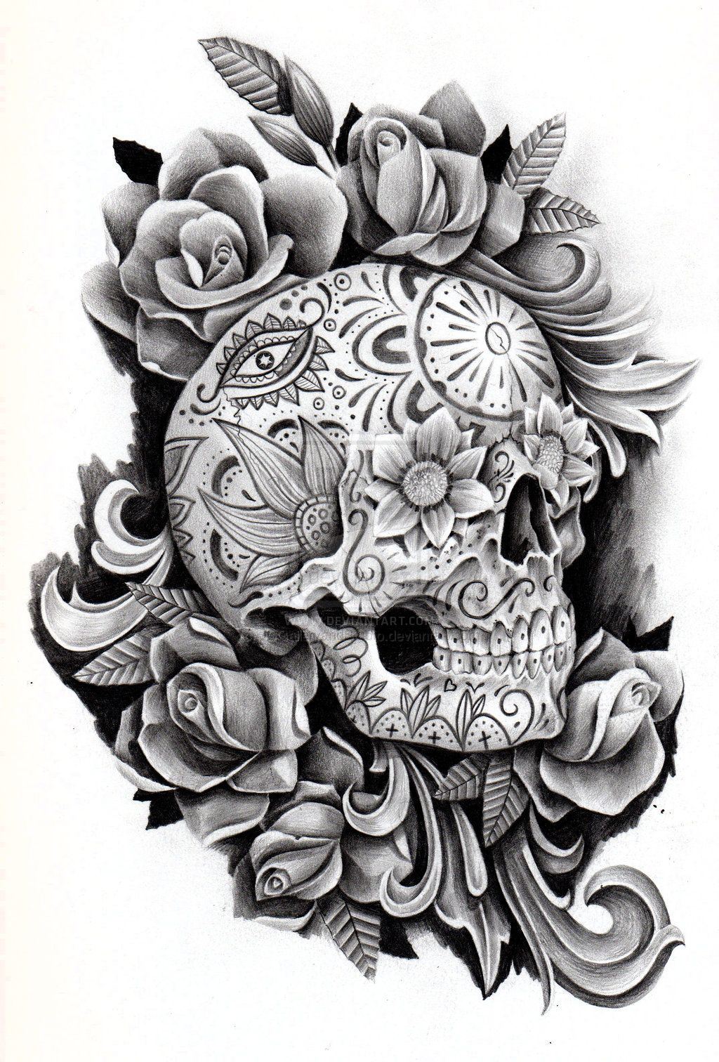 day of the dead memorial by on deviantart tats pinterest. Black Bedroom Furniture Sets. Home Design Ideas