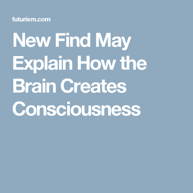 New Find May Explain How the Brain Creates Consciousness