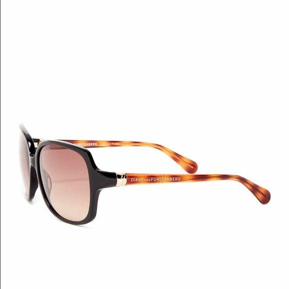 Women's Plastic Fashion Sunglasses Diane von Furstenberg Women's Plastic Fashion Sunglasses Color: ONYX Diane von Furstenberg Accessories Sunglasses