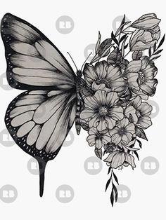 's h a w n - butterfly' Sticker by xhashtagot5x