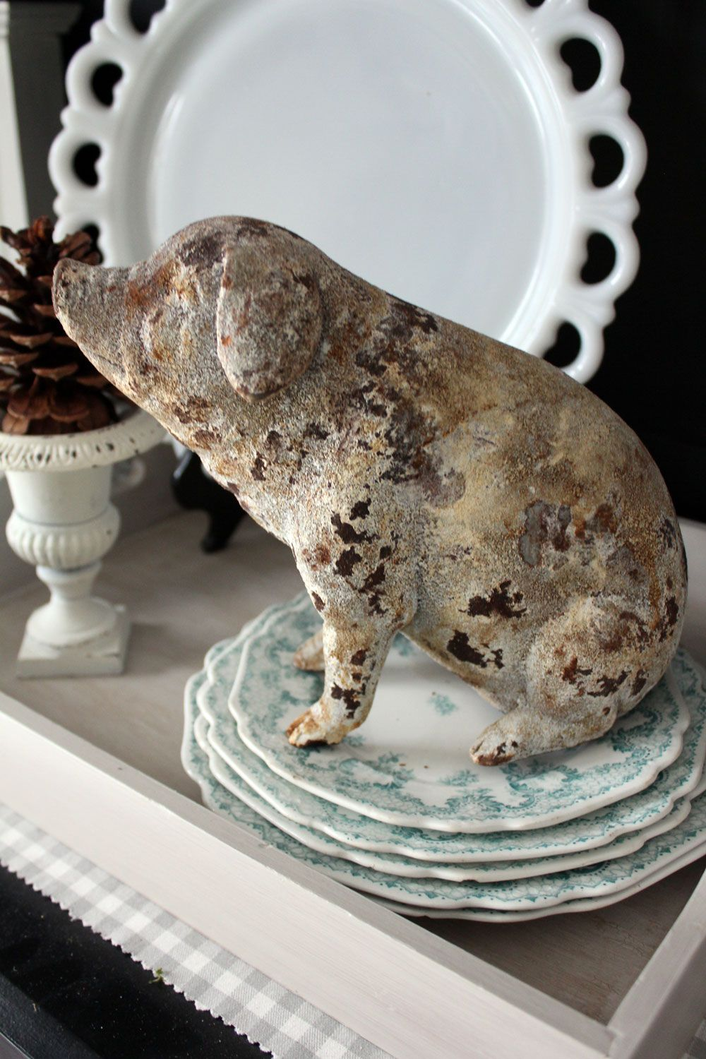 A Little Change In The Kitchen Pig Decor Primitive Kitchen Primitive Kitchen Decor