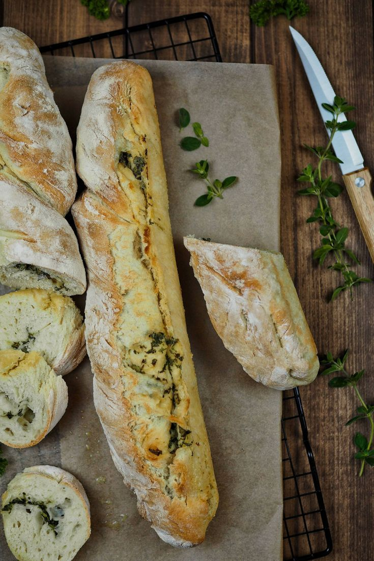 Photo of Recipe for homemade herb baguette [einfach & schnell]
