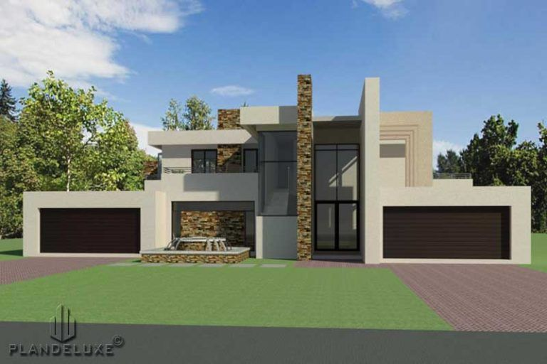 Double Story 4 Bedroom House Plan Modern House Plans Plandeluxe 4 Bedroom House Plans Bedroom House Plans House Plans With Photos