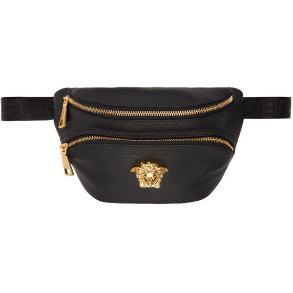 Versace Black Leather Medusa Belt Pouch ( 735) ❤ liked on Polyvore  featuring mens fashion d1133f9dc93ab