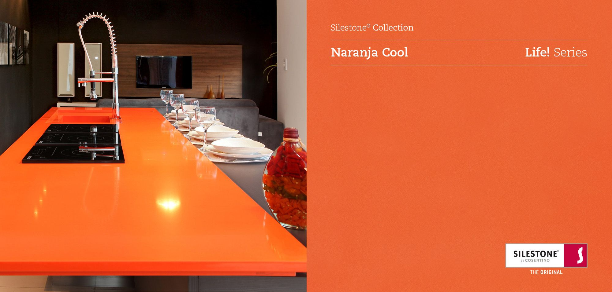Silestone naranja cool silestone collection pinterest - Colores del silestone ...