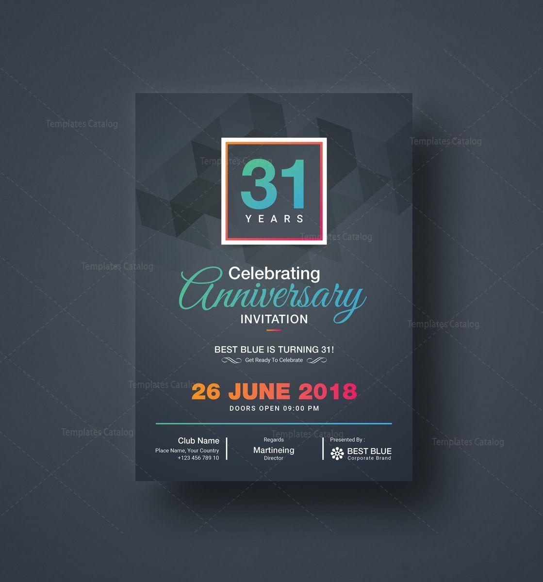 Zeus Elegant Anniversary Invitation Template 5 - Template