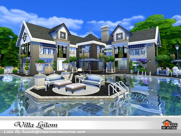 Villa loilom by autaki at tsr via sims 4 updates sims 4 for Modernes haus sims 4