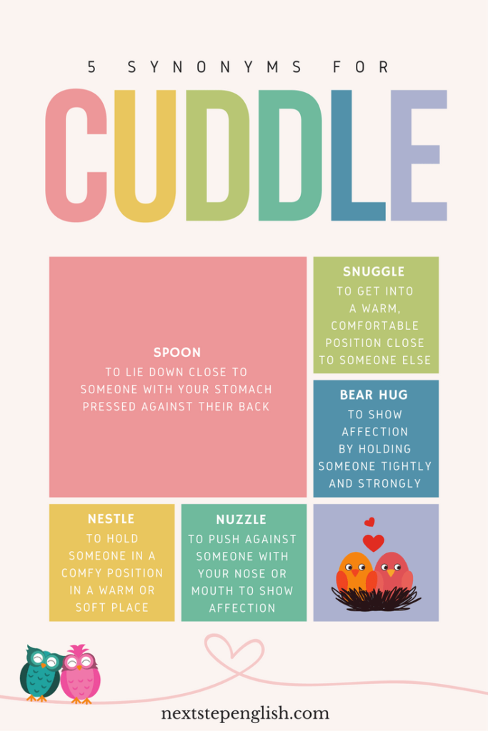 Love Words in English, Part 13: Cozy English Synonyms for \'Cuddle ...