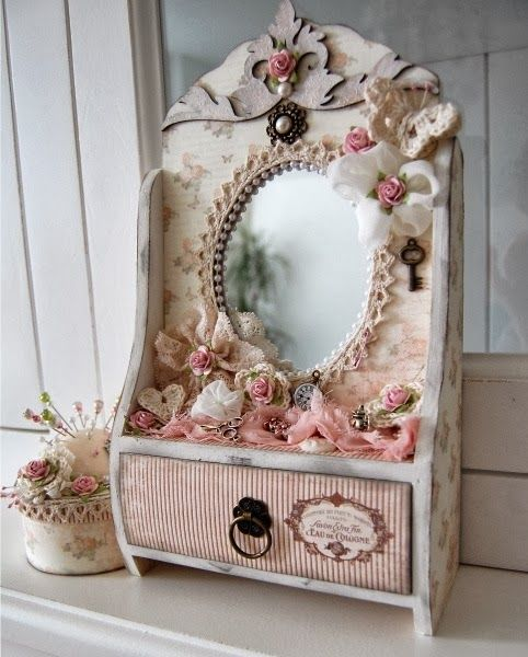 Armario Para Banheiro Com Espelho ~ AMARNA ARTESANATO E IMAGENS DECORA u00c7ÃO E COISINHAS EM ESTILO SHABBY CHIC clique nas imagens