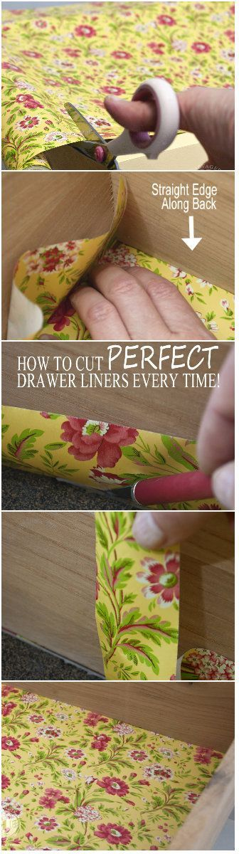 How To Cut A Perfect Drawer Liner Every Time Wo Measuring  For Delectable Kitchen Cabinet Liners Design Decoration