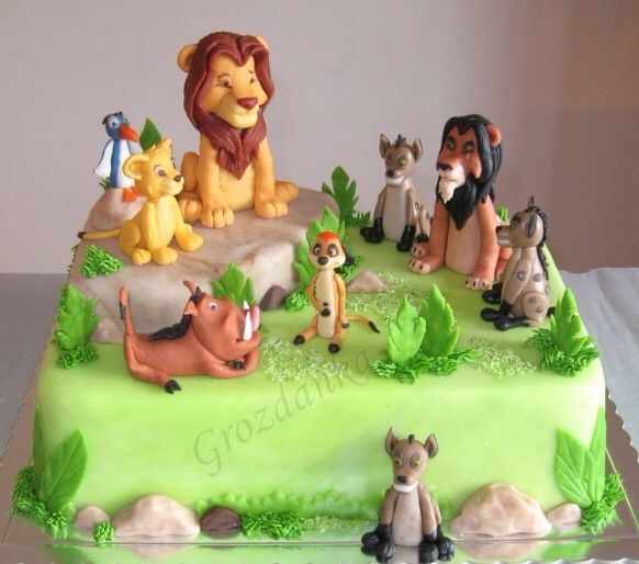 Wonderful Lion King Cake Lion king cakes Lions and Cake