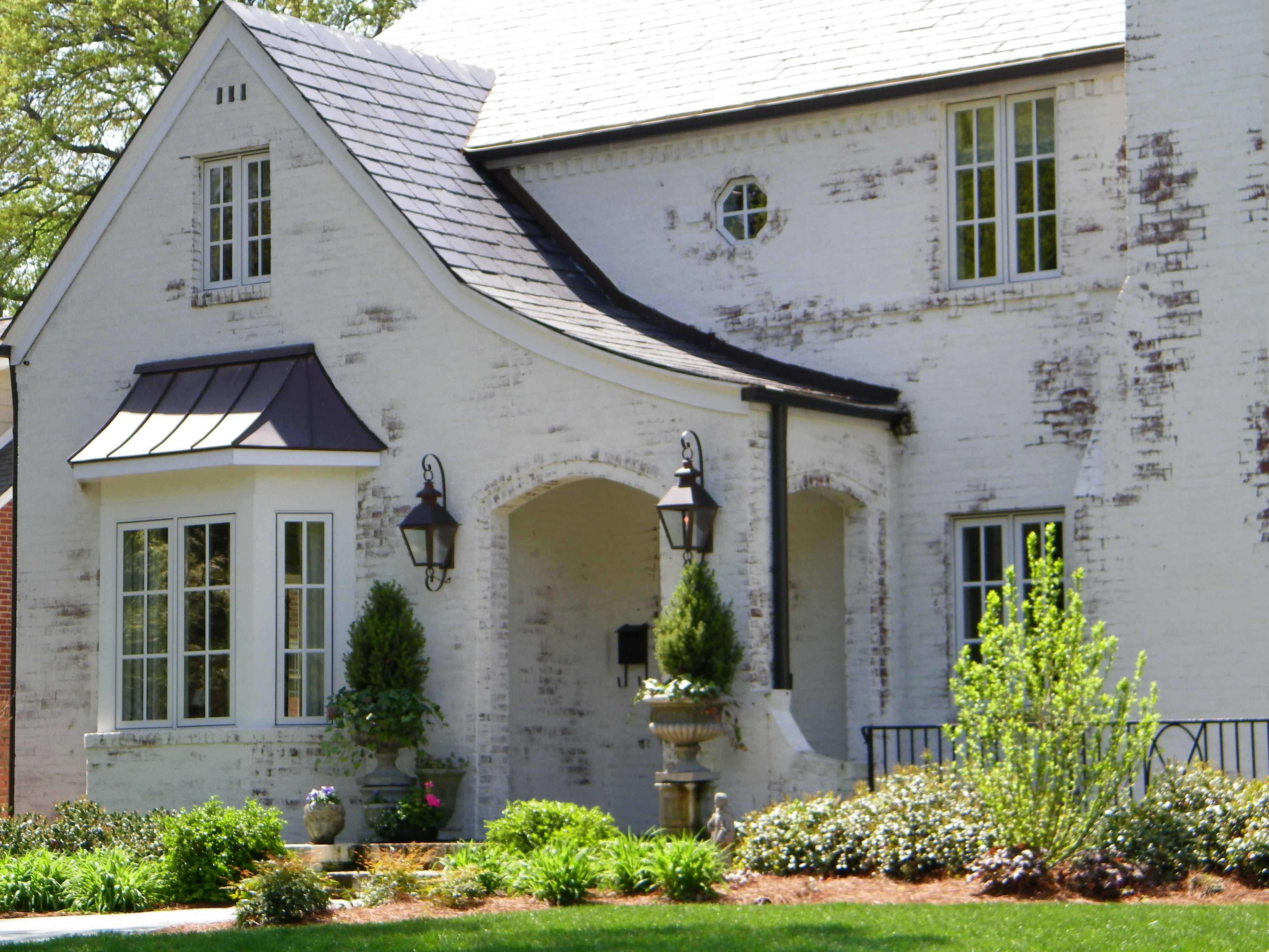 Traditional Whitewashed Brick Painted Brick House Painted Brick